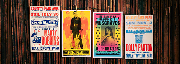 Hatch Show Prints posters