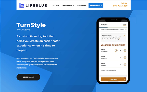 TurnStyle web page