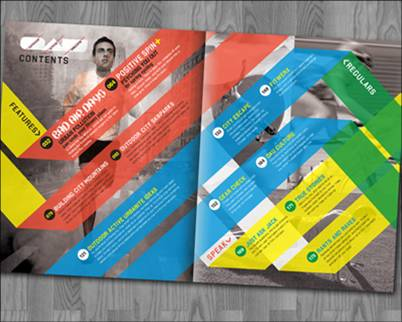 magazine table of contents design